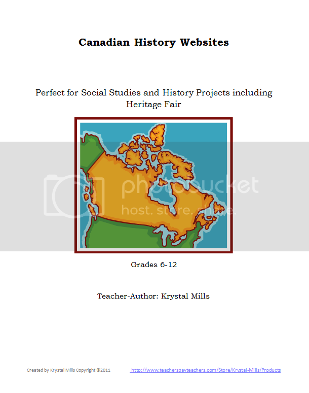 Canadian Websites for Social Studies Projects